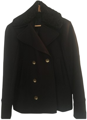 Diesel Black Gold Blue Wool Coat for Women