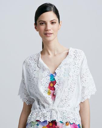 Cluny Lace Tie-Waist Jacket