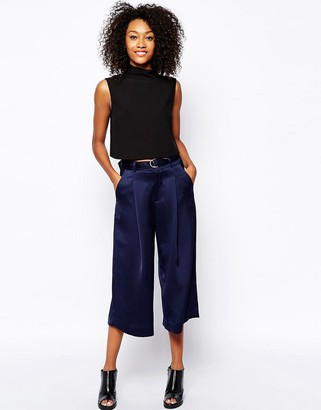 Monki Wide Leg Belted Trouser