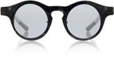 Kris Van Assche Linda Farrow X Grey Tortoiseshell Round No Flip Sunglasses