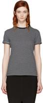 Alexander Wang Navy & Grey Striped Crewneck T-Shirt