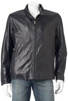 Andrew Marc Men's Calf Leather Racer Jacket