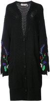 Preen Line embroidered sleeves long cardigan