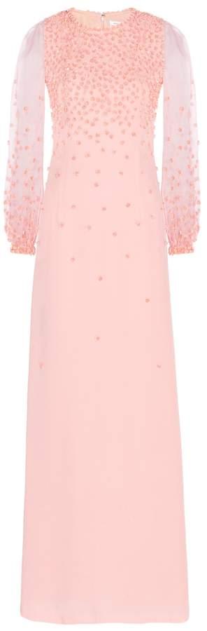 Andrew Gn Long Sleeve Embellished Dress