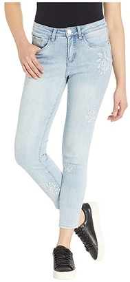 FDJ French Dressing Jeans Olivia Slim Ankle Textured Floral Detail in Cool Blue (Cool Blue) Women's Jeans