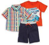 Nannette Boys Three-Piece Shirt, Tee and Shorts Set