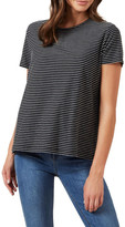 French Connection Stripe Textured T Shirt