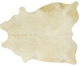 White Cowhide Floor Covering