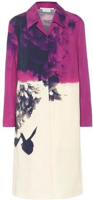 Dries Van Noten Printed cotton and linen coat