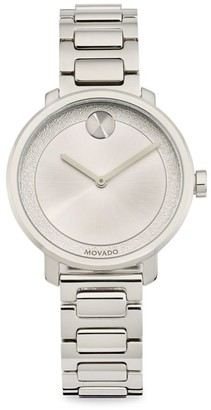 Movado BOLD Frosted-Dial Stainless Steel Bracelet Watch