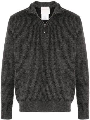 Stephan Schneider Half-Zip Ribbed Sweater