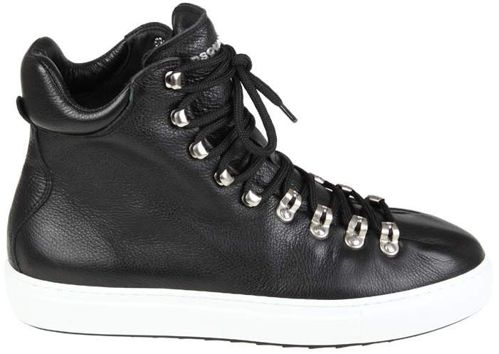 DSQUARED2 Sneakers In Black Leather