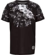 River Island Boys black floral print T-shirt