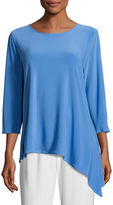 Caroline Rose 3/4-Sleeve Side Fall Top, Plus Size