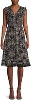 Max Studio Moody Floral-Print Ruffled Fit-&-Flare Dress