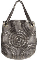 Illusion Oversize Shoulder Bag- Silver