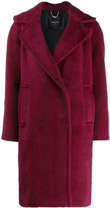 Paltò herringbone woven coat