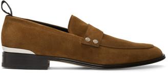 Alexander McQueen Brown Suede Loafers
