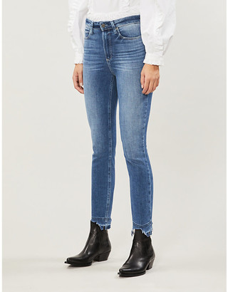 Paige Margot raw-hem skinny high-rise jeans
