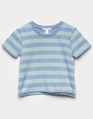 Full Tilt Stripe Girls Blue Combo Boxy Tee