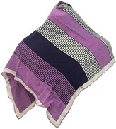 Saint Laurent Purple Silk Scarves