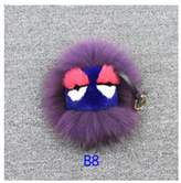 Yunzhicheng Version B Real Mink Fur Keychain Hanging Charm for car or purses