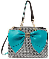 Betsey Johnson Welcome to the Big Bow Dotted Satchel