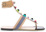 Fendi Leather Gladiator Sandals