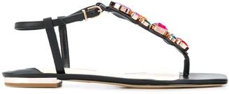 Sophia Webster Gemstone Detail Sandals With Ankle Strap