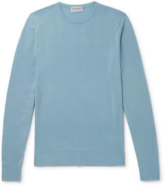 John Smedley Lundy Slim-Fit Melange Merino Wool Sweater