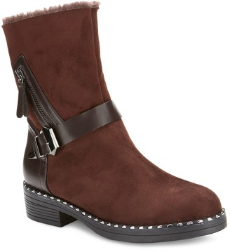 OLIVIA MILLER McGrath Faux-Fur Ankle Boots