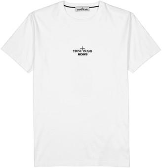Stone Island Archivio white cotton T-shirt
