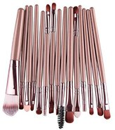 Makeup Brush,Canserin 15 pcs/Sets Eye Shadow Foundation Eyebrow Lip Brush Makeup Brushes Tool (Gold )