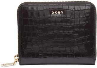 DKNY Bryant Croc Zip Around Leather Wallet