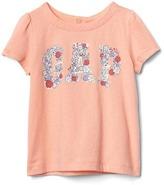 Gap Floral logo short sleeve tee