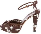 Gucci Floral Print Platform Sandals