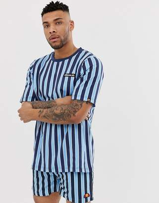 Ellesse Coral striped t-shirt in navy