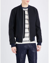 Ps By Paul Smith Contrast-trim Wool-blend Bomber Jacket