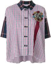 Antonio Marras checked embellished shirt