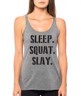 Etsy Sleep Squat Slay Womens Tank Top, Workout Tank, Gym Tank, Funny Gym Shirt, Squat Tank Top, Fitness t