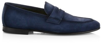 To Boot Enzo Suede Penny Loafers