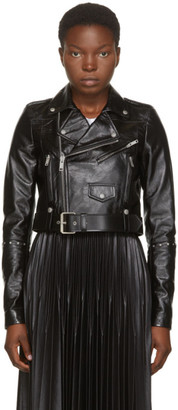 Givenchy Black Leather Studded Biker Jacket