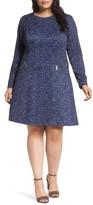MICHAEL Michael Kors Plus Size Women's Tweed Print A-Line Dress