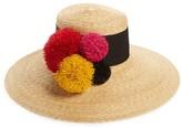 Eugenia Kim Women's Mirasol Pompom Straw Hat - Beige