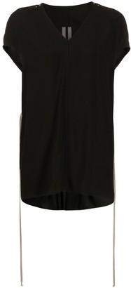 Rick Owens longline drawstring waist T-shirt