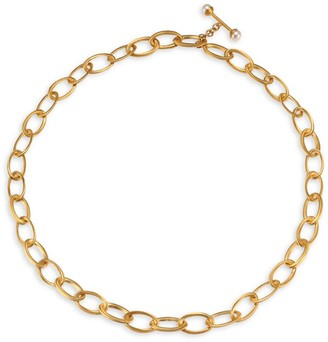 Dean Davidson Origami 22K Yellow Goldplated & 6MM Freshwater Pearl Infinity Chain Necklace
