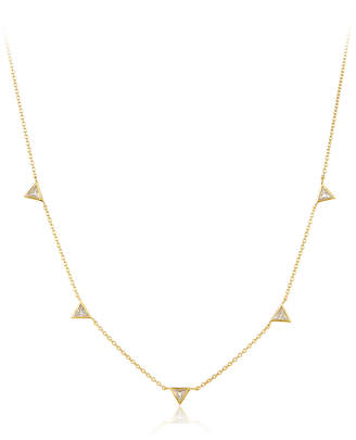 Amrapali Legend Rashayana Triangle Sapphire Station Necklace
