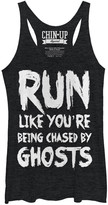 Chin Up Apparel Women's Tank Tops BLK - Black Heather 'Run Like You're Being Chased' Racerback Tank - Women