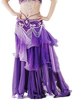 Belly Dance Colorful Maxi Skirt Dress, Performace Halloween Dancing Costume