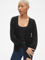 Gap Balloon Sleeve Cardigan Sweater in Merino Wool